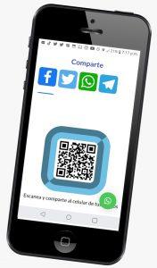 Comparte por mensajería, redes sociales y Código QR